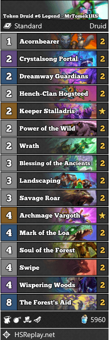Token Druid #6 Legend - MrTomek1HS