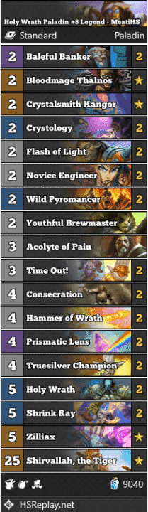 Holy Wrath Paladin #8 Legend - MeatiHS