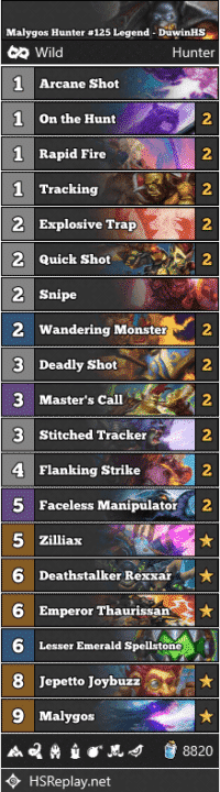 Malygos Hunter #125 Legend - DuwinHS