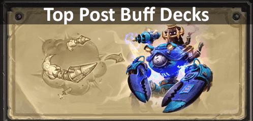 Week Buff - Post Buff – Top Legend Decks (Standard and Wild)