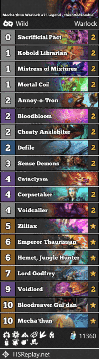 Mecha'thun Warlock #73 Legend - therottedzombie