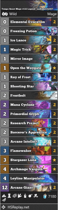 Tempo Quest Mage #132 Legend - asdfadsl142857