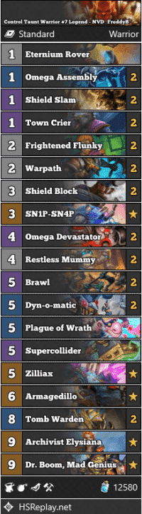 Mech Warrior #25 Legend - Elfandor_hs | Hearthstone-Decks net