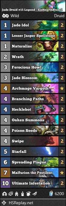 Jade Druid #15 Legend - EisHearthStone1