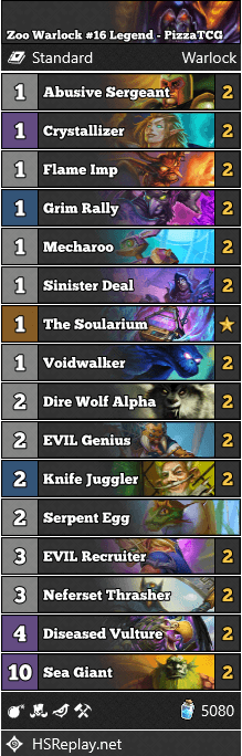 Zoo Warlock #16 Legend - PizzaTCG