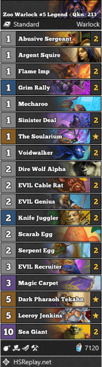 Zoo Warlock #5 Legend - Qkn_213