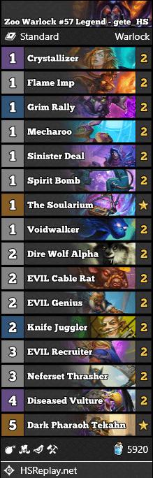 Zoo Warlock #57 Legend - gete_HS