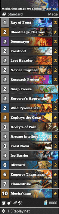 Mecha'thun Mage #98 Legend - viper_hs
