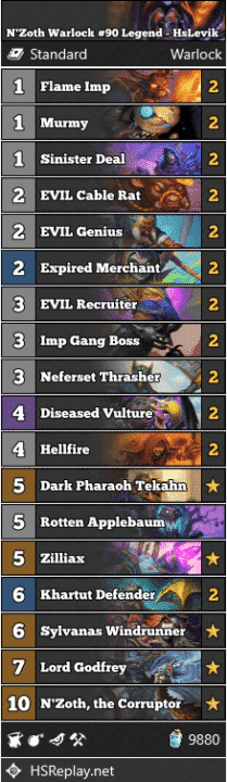 N'Zoth Warlock #90 Legend - HsLevik
