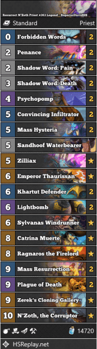 Resurrect N'Zoth Priest #363 Legend - SuperiorDavidHS