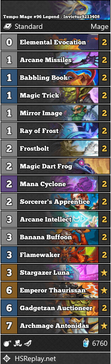 Tempo Mage #96 Legend - Invictus9213408