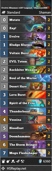 Evolve Shaman #207 Legend - ChoccocciHS