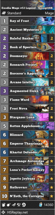Exodia Mage #53 Legend - SoLegitHS