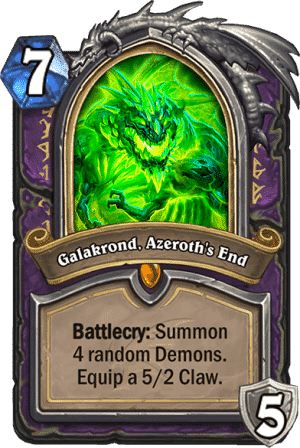 Galakrond Azeroths End - Warlock