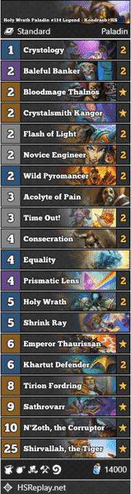 Holy Wrath Paladin #114 Legend - Kondrash_HS