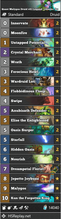 Quest Malygos Druid #83 Legend - chanko_hs