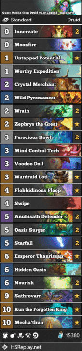 Quest Mecha'thun Druid #239 Legend - misplaytv