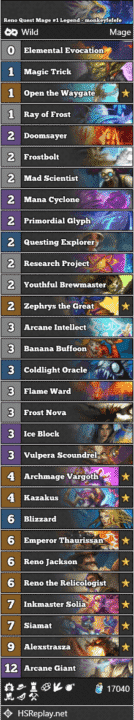 Reno Quest Mage #1 Legend - monkeyfefefe