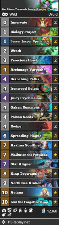 Star Aligner Togwaggle Druid #26 Legend - Tarbo36