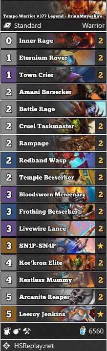 Tempo Warrior #377 Legend - BrianMayeshiro