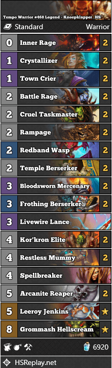Tempo Warrior #468 Legend - Knoepklapper_HS