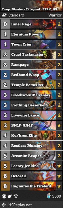 Tempo Warrior #53 Legend - BZRK_HS