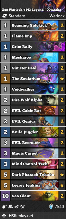 Zoo Warlock #143 Legend - 00taraba