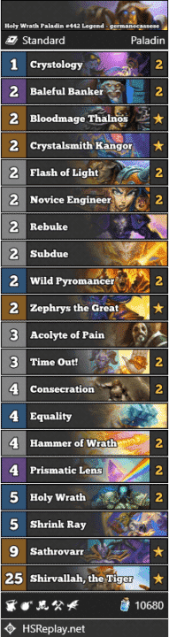 Holy Wrath Paladin #442 Legend - germanocassese
