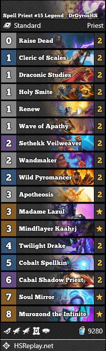 Spell Priest #15 Legend - DrGyrosHS