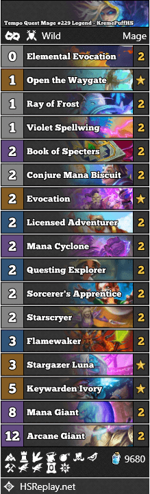 Tempo Quest Mage #229 Legend - KremePuffHS