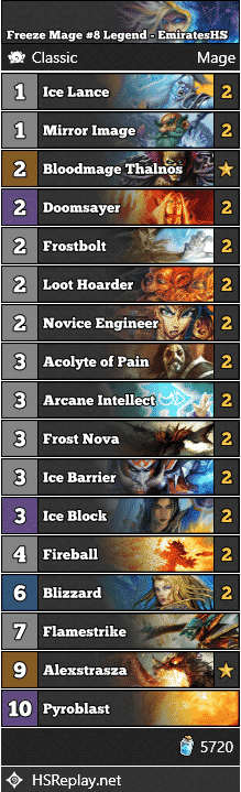 Freeze Mage #8 Legend - EmiratesHS
